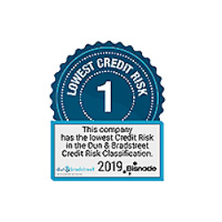 Logo Bisnode Lowest credit risk